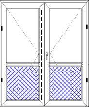 Дверь двупольная