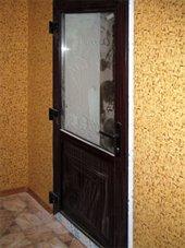 пластиковая дверь махогон