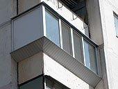 Угловой выносной балкон