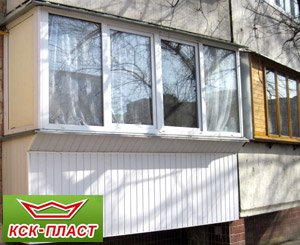 Застеклить балкон в хрущевке цена Киев