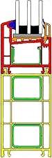 Расширители рам металлопластиковых окон 100 мм